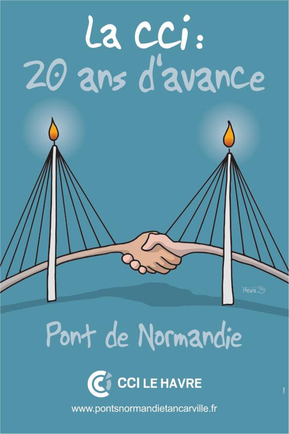 Affiche 20 Ans Du Pont Du Pont De Normandie HEULA