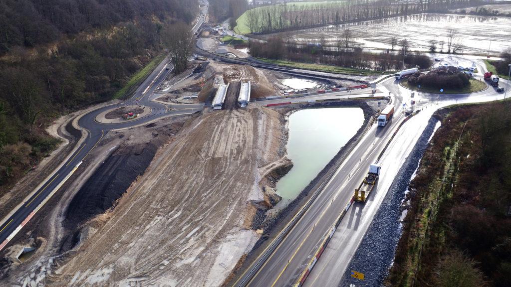 Amélioration des accès au pont de Tancarville