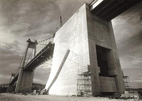 Massif d'ancrage Termine Pont de Tancarville