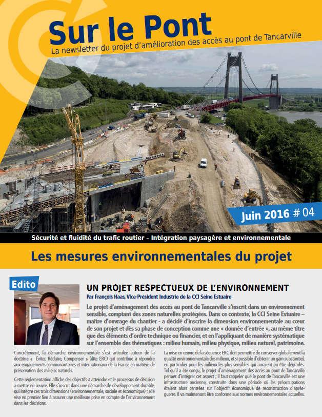 Amélioration Des Accès Pont De Tancarville Newsletter Juin 2016
