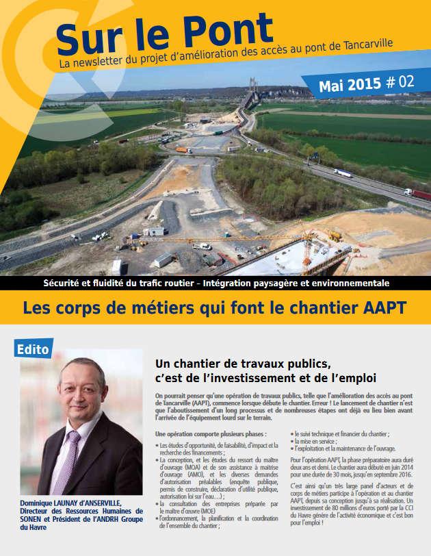 Amélioration Des Accès Pont De Tancarville Newsletter Mai 2015