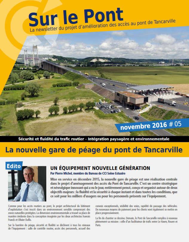 Amelioration Des Acces Pont De Tancarville Newsletter Novembre 2016