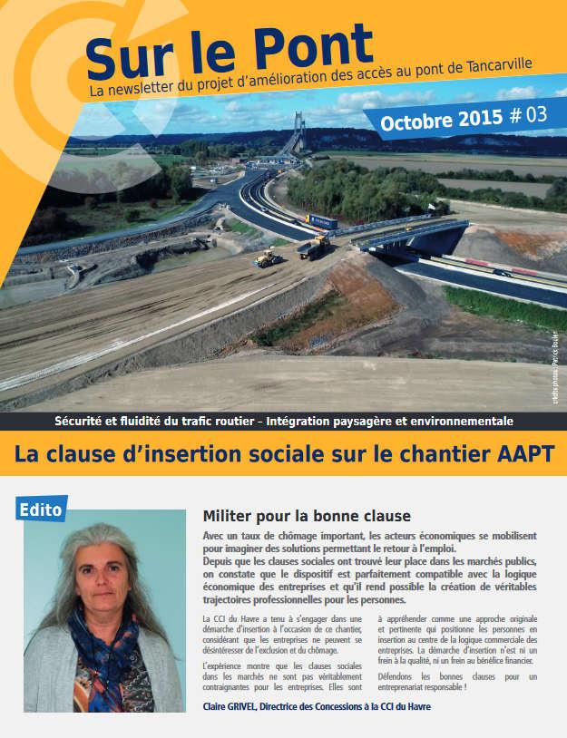 Amélioration Des Accès Pont De Tancarville Newsletter Octobre 2015