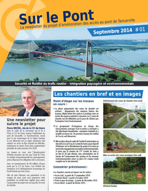 Amélioration Des Accès Pont De Tancarville Newsletter Septembre 2014