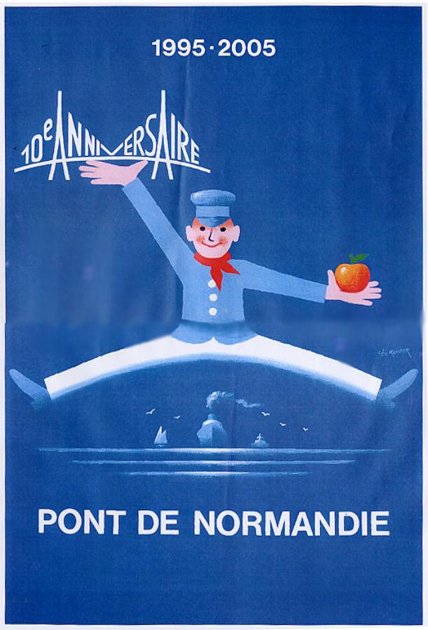 Affiche Léo Kouper 10 Ans Du Pont De Normandie